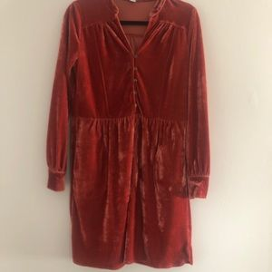 Size Small velvet babydoll dress from Clad & Cloth
